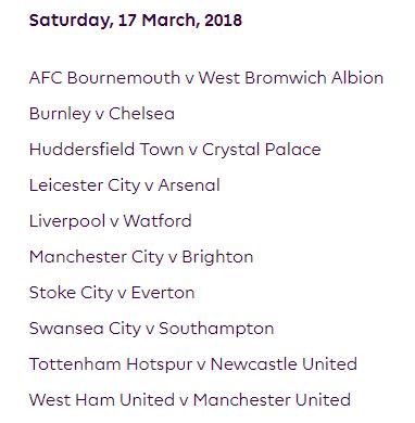 الجولة 31 من الدوري الإنجليزي الممتاز 2018