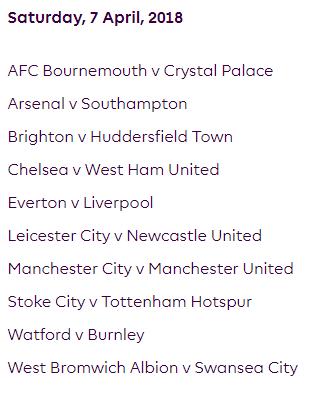 الجولة 33 من الدوري الإنجليزي الممتاز 2018