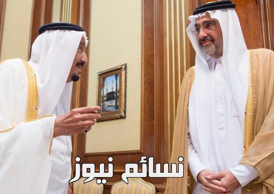 الملك سلمان والشيخ عبدالله آل ثاني