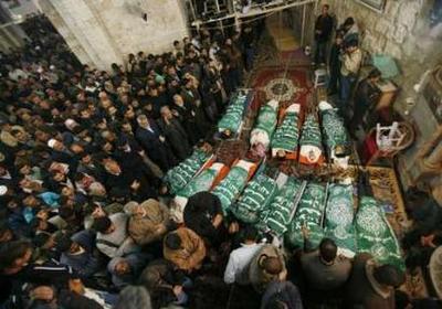 تشييع شهداء غزة وتوعد من المقاومة بالرد