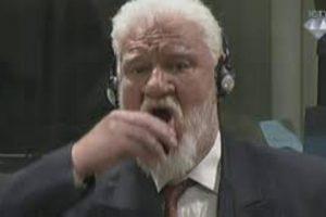 وفاة سلوبودان برالياك بعد شربه للسم في قاعة المحكمة بلاهاي