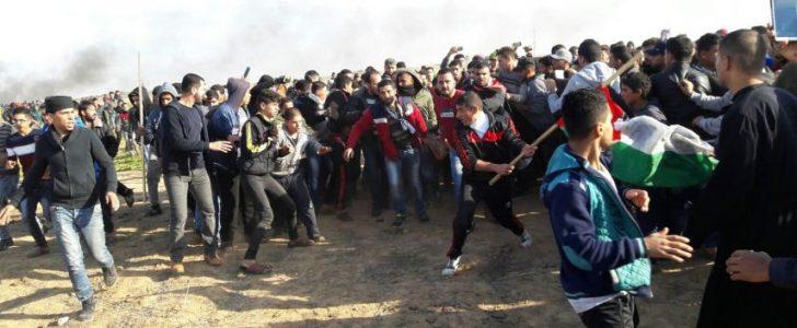 استشهاد شابين فلسطينيين وإصابة العشرات في قطاع غزة خلال جمعة الغضب الثالثة