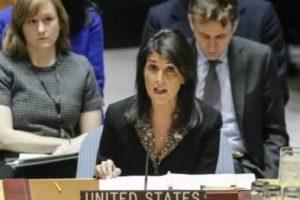 مندوبة واشنطن لدى الأمم المتحدة تعلن عن خيارات أمريكية لفرض عقوبات تجاه إيران عبر مجلس الأمن