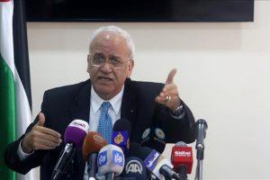 عريقات يدعو الاتحاد الأوروبي لممارسة ضغوط على إسرائيل لوقف انتهاكاتها بحق الفلسطينيين