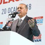 """الرئيس التركي يعلن بدء العملية العسكرية التركية في مدينة عفرين ضد مسلحي تنظيم """"B Y D"""""""