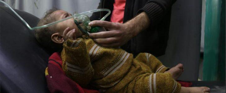 قوات النظام السوري تستهدف مناطق الغوطة الشرقية مجددا بغاز الكلور السام