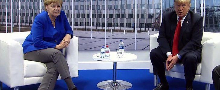 ترامب يعدل عن تصريحاته حيال ألمانيا عقب لقاء ميركل على هامش اجتماعات الناتو