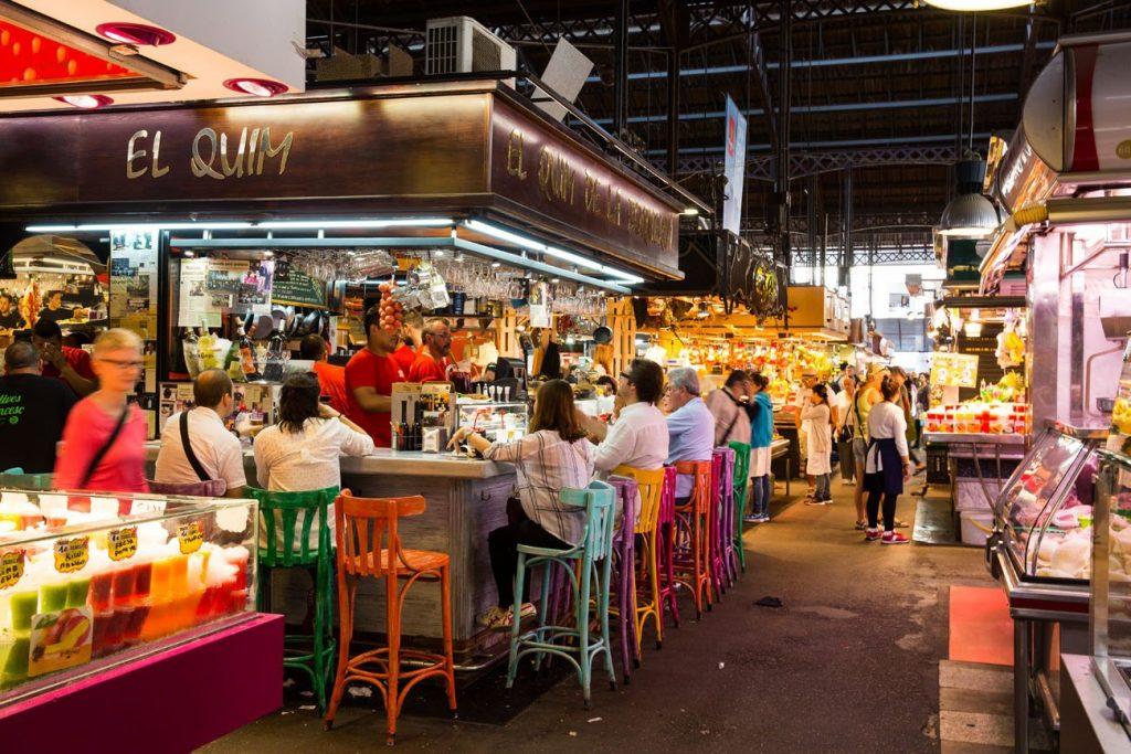 السوق الشعبي في برشلونة