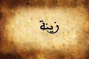 معنى اسم زينة داخل قاموس المعاني