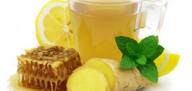 العسل مع الزنجبيل