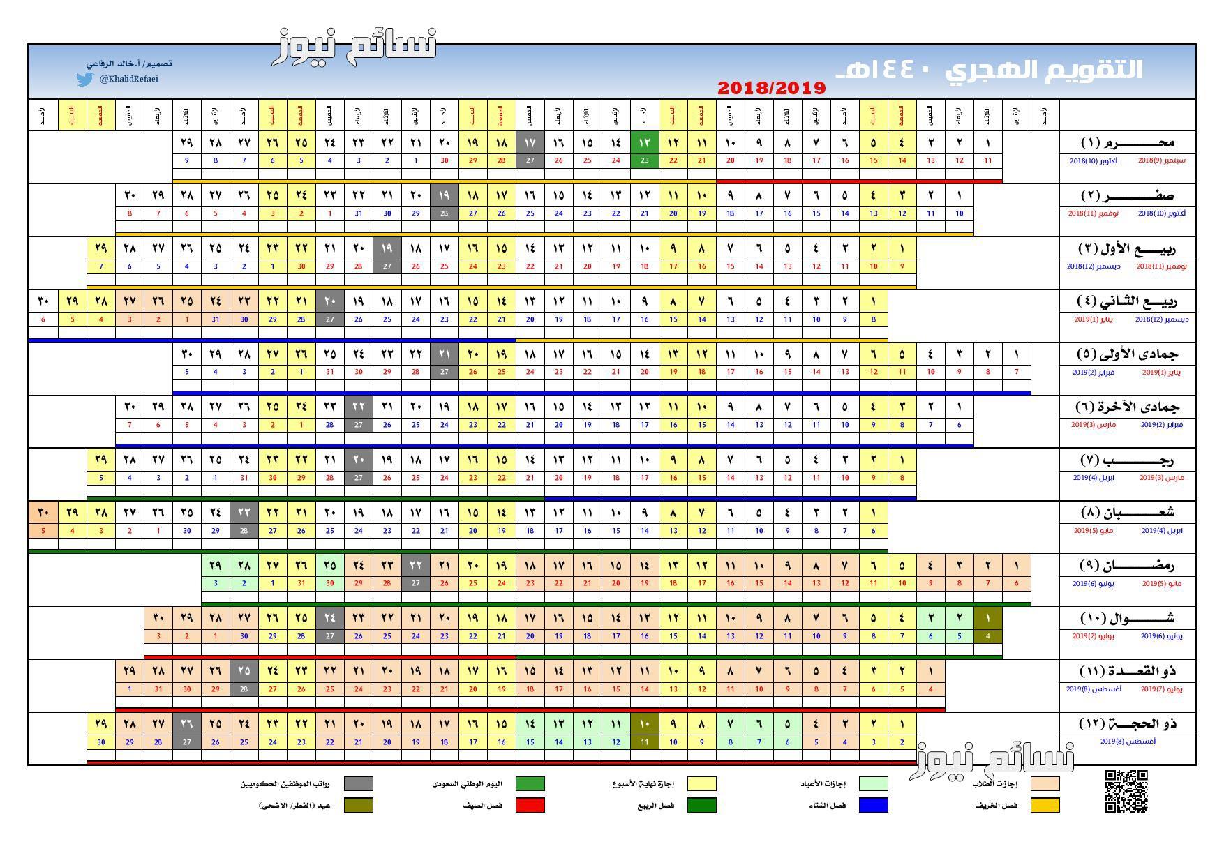 التقويم الهجري 1440
