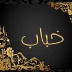 معنى اسم خباب في اللغة العربية