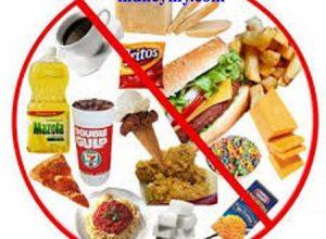 أسماء الأغذية المضرة للصحة