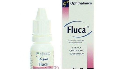 قطرة فلوكا لتطهير العين وعلاج القرح والجروح بالقرنية