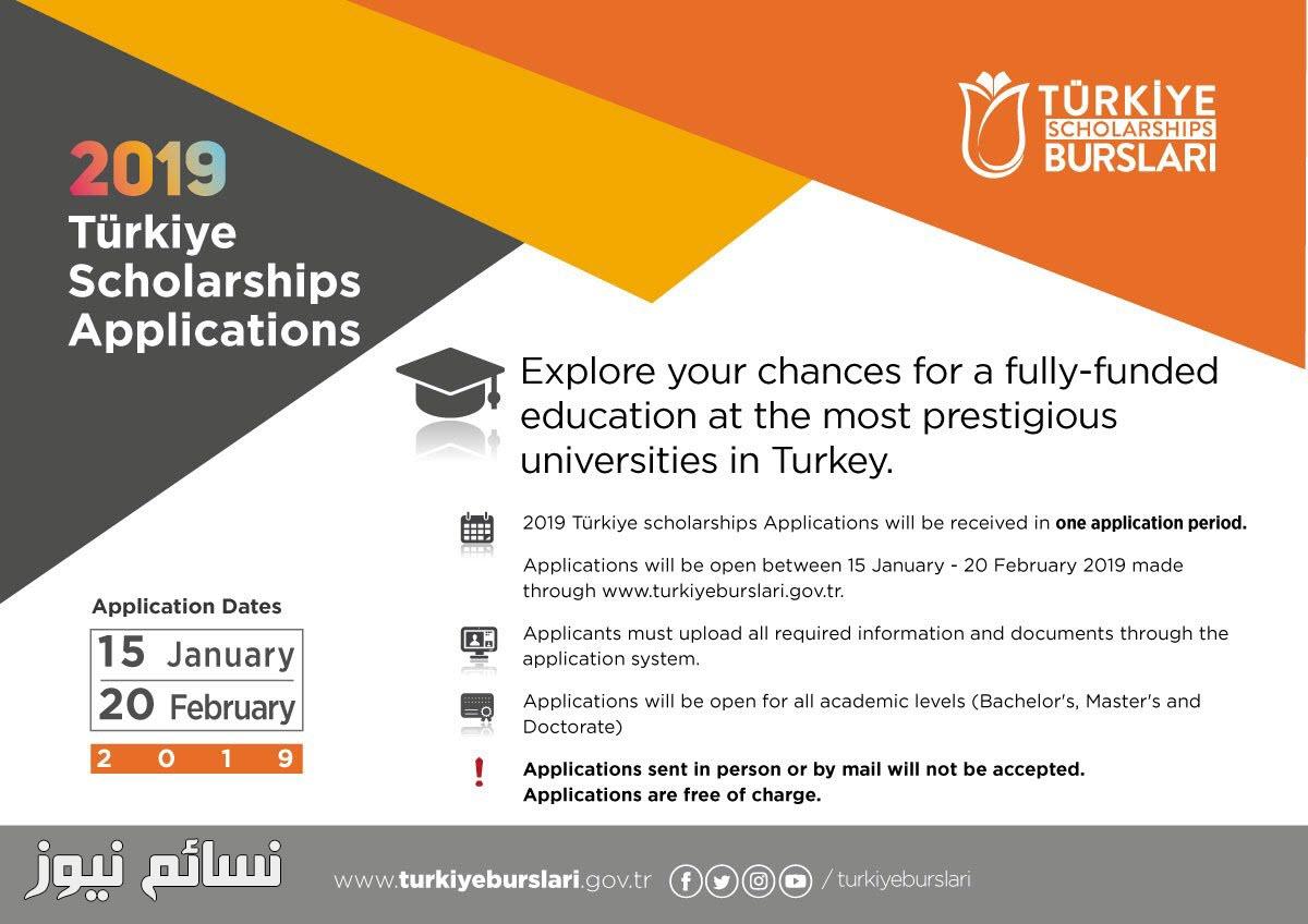 موعد التسجيل في المنحة التركية 2019