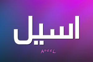 معنى اسم أسيل في اللغة العربية