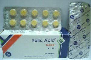 نشرة أقراص فوليك أسيد folic acid لعلاج نقص حمض الفوليك