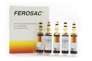 نشرة حقن فروساك ferosac لعلاج نقص الحديد