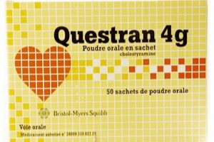نشرة أكياس كويستران Questran لعلاج ارتفاع الكوليسترول في الدم