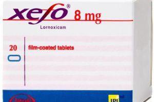 نشرة أقراص زيفو XEFO لعلاج أمراض المفاصل
