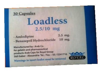 نشرة كبسولات لودلس Loadless لعلاج ارتفاع ضغط الدم العالي