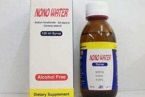 نشرة شراب ماء نونو Nono water لعلاج المغص وطرد الغازات