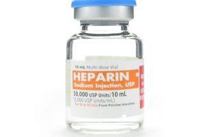 نشرة حقن هيبارين Heparin لعلاج تخثر الدم