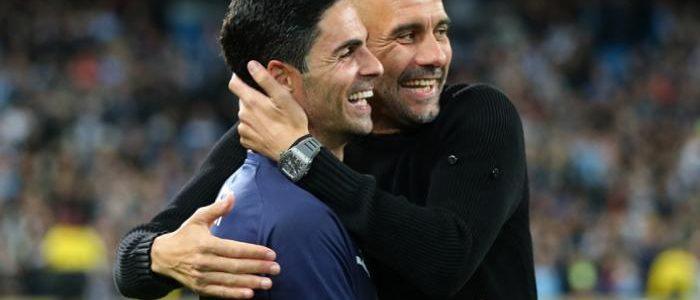 أرتيتا يكشف حديثه مع جوارديولا عقب فوز أرسنال على مانشستر سيتي