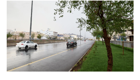 طقس المدينة أمطار رعدية مصحوبة برياح سطحية