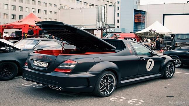 بالصور سيارة مرسيدس اس كلاس بعد ان تم تحويلها إلى بكب