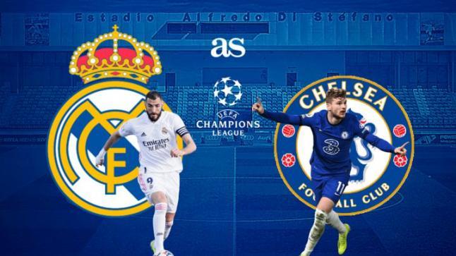 مباراة ريال مدريد وتشيلسي اليوم الاربعاء 5-5-2021 لقاء العودة في نصف نهائي الأبطال