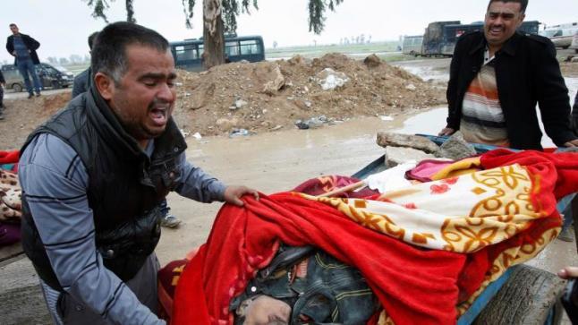 مجزرة بحق المدنيين بحي الموصل الجديدة بالجانب الغربي من مدينة الموصل
