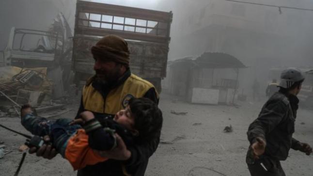 انخفاض معدلات الغارات على الغوطة الشرقية غداة قرار مجلس الأمن الدولي