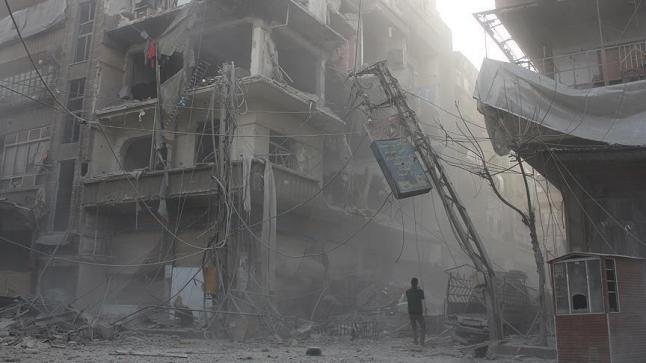 استمرار غارات النظام السوري والمقاتلات الروسية على الغوطة الشرقية وسقوط ضحايا مدنيين