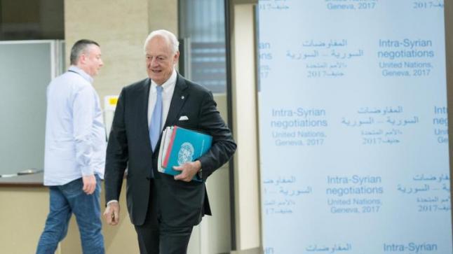 تواصل لقاءات مبعوث الأمم المتحدة مع أطراف الأزمة السورية في جنيف
