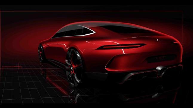 في معرض جنيف للسيارات سيتم الكشف عن AMG GT سيدان الإختبارية