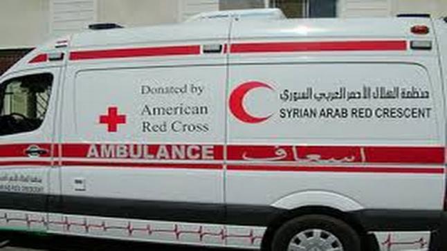 طائرة مجهولة تستهدف مقر الهلال الأحمر السوري في مدينة إدلب شمالي سوريا