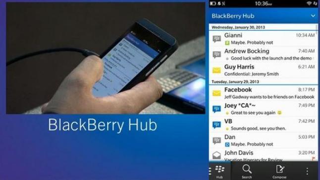 تحديث جديد لتطبيق بلاك بيري Hub الذي يدعم التنبيهات لكل من تطبيق WeChat و Line